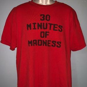Men's Gildan Heavy Cotton Red Printed Shirt